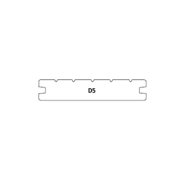 Terrassilaud termomänd kuumõli D5 26x117mm hall