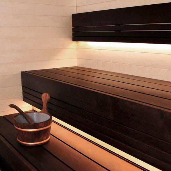 Sauna voodrilaud tume termolepp STS4 15x85x2400mm