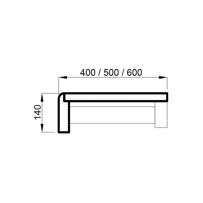 Sauna lavamoodul lepp 140x500x2100mm
