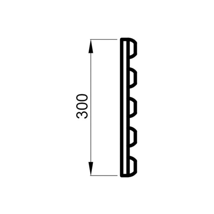 Saunalava seljarest lepp 16x300x1750mm