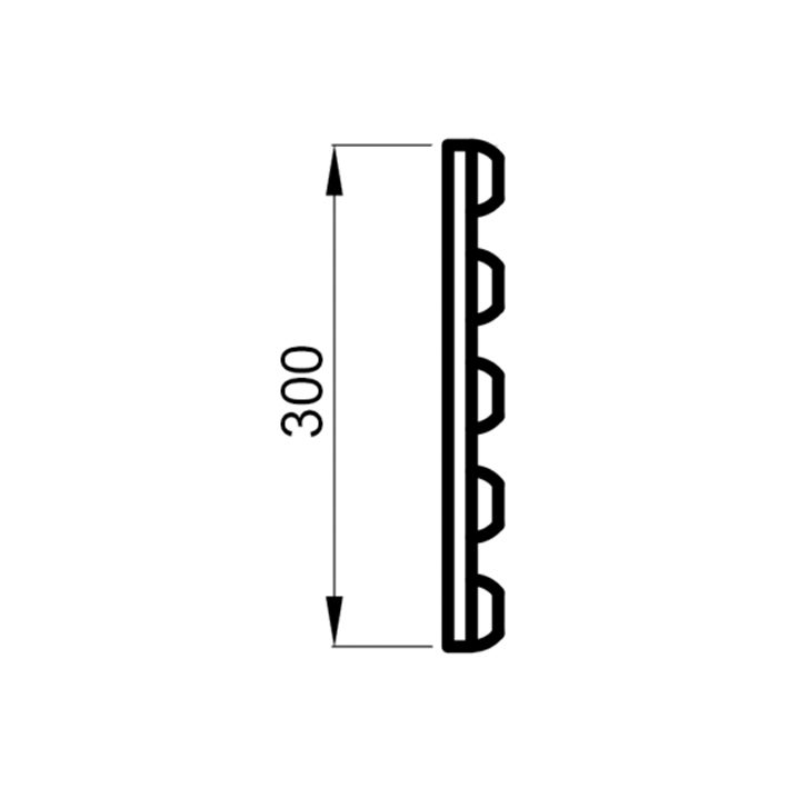 Saunalava seljarest termohaab 16x300x2050mm