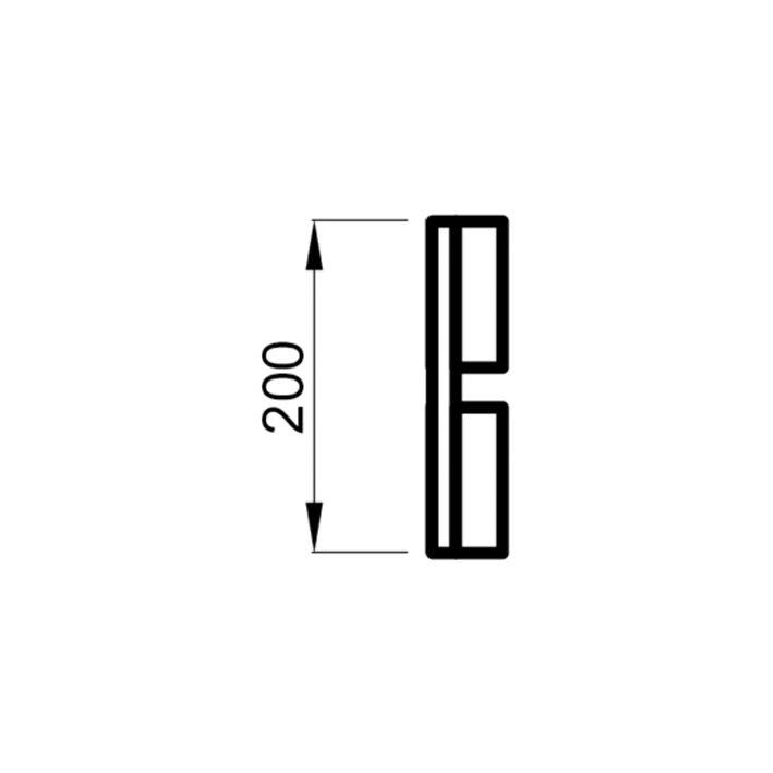 Saunalava seljarest lepp 28x200x2050mm