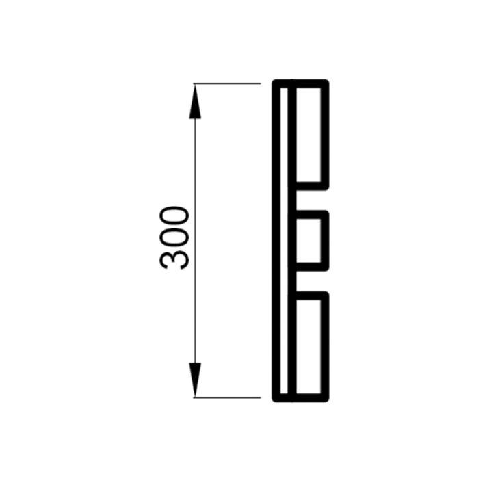 Saunalava seljarest lepp 28x300x2050mm