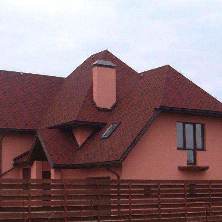 Bituumensindel Tegola Hexagonal (3m2) punane