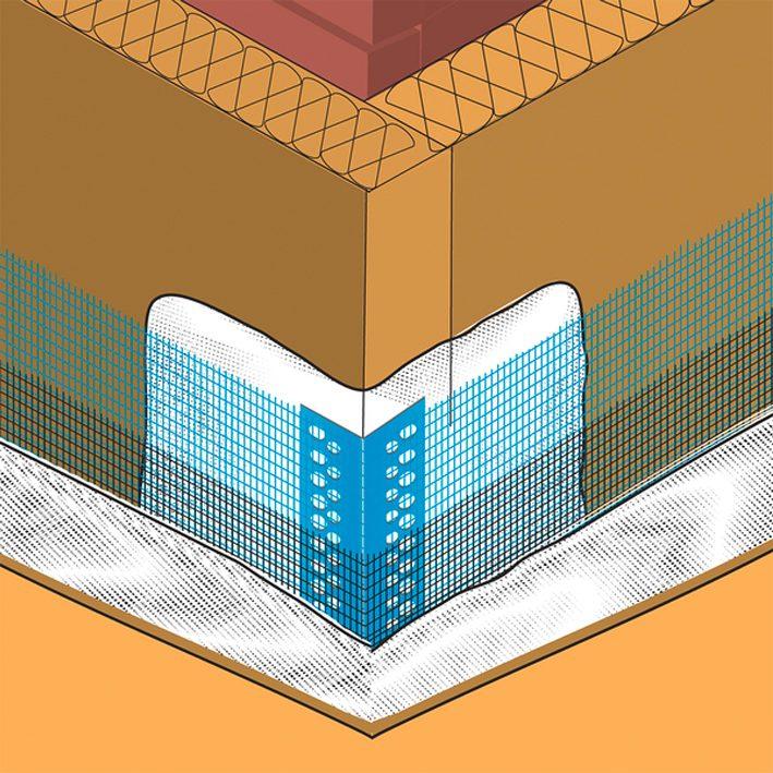 Nurgaprofiil fassaadile Sakret 100x150mm 2,5m