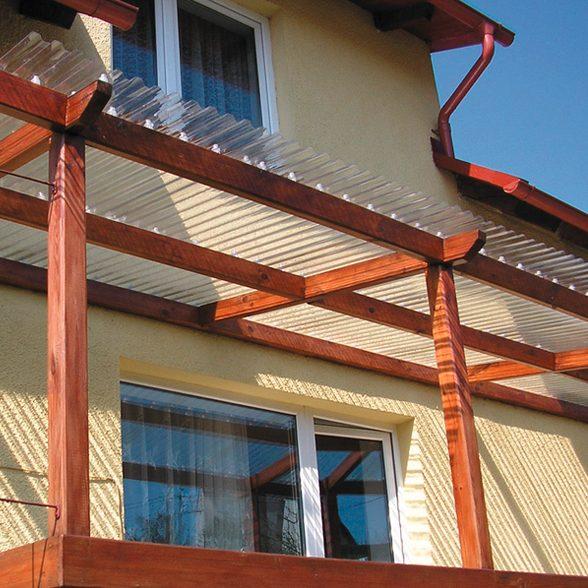 PVC katuseplaat Gutta Sinus 2000x900mm pronks