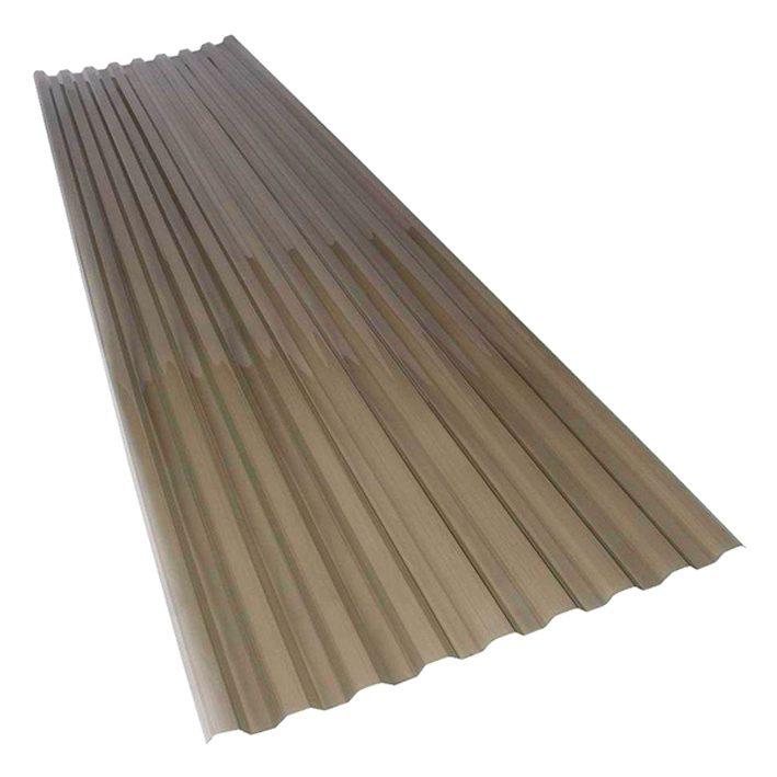 Katuse PVC trapetsplaat 1,2x1050x3000mm 76/18 pronks