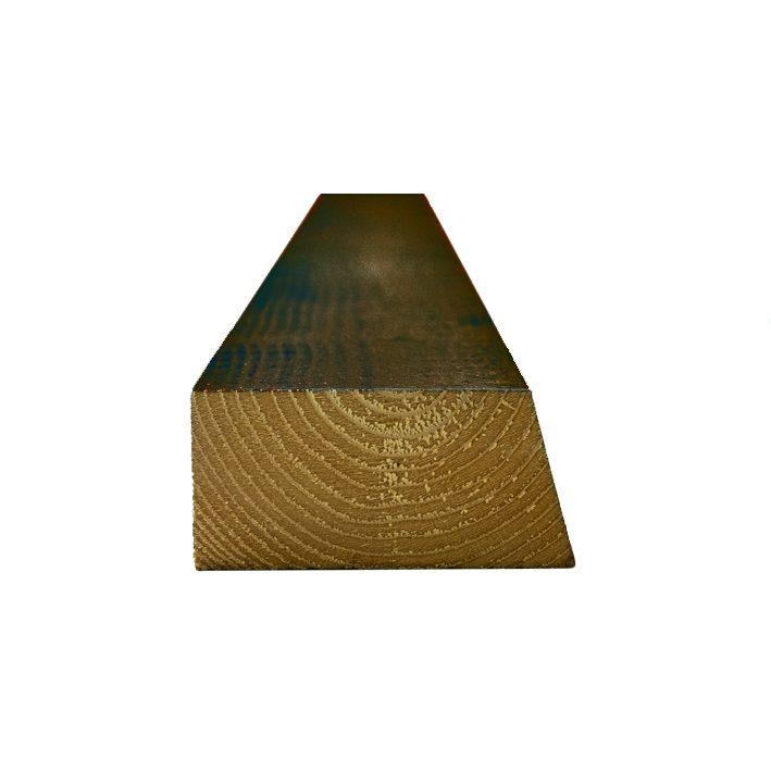 Aiapõõn värvitud (2x) 45x95x5100mm pruun (RR32)