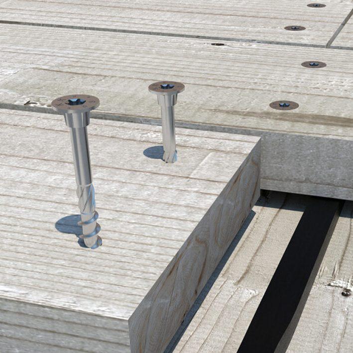 Kruvi terrassiklambrile AISI410 4,5x40mm (200)