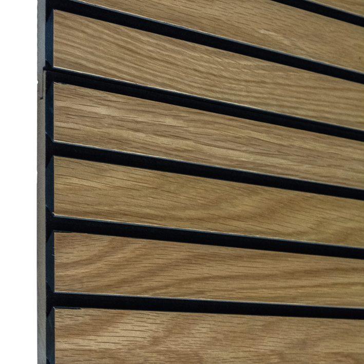 Akustiline ribipaneel tamm vineer 20x217x3000mm naturaalne