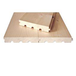 Põrandalaud kuusk faasitud HLL.40x245(235)x5100mm