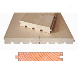 Põrandalaud kuusk faasitud HLL.40x245(235)x5700mm