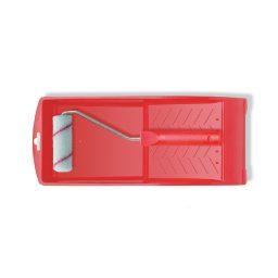 Värvirull Ø15mm 10cm punase triibuga+käepide+kauss