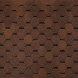 Bituumensindel Tegola Hexagonal (3m2) pruun