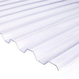 Katuse PVC trapetsplaat 1,2x1050x2000mm 76/18 kirgas