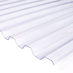 Katuse PVC trapetsplaat 1,2x1050x6000mm 76/18 kirgas