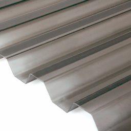 Katuse PVC trapetsplaat 1,2X1050X2000mm 76/18 pronks