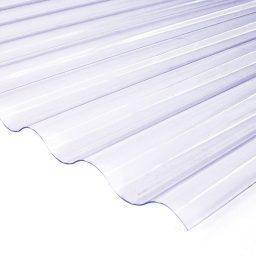 Katuse PVC laineplaat 0,8X900X2000mm 76/18 kirgas