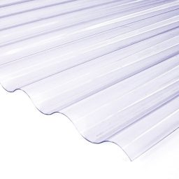 Katuse PVC laineplaat 0,8X900X3000mm 76/18 kirgas