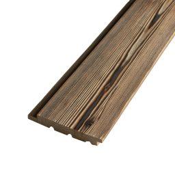 Välisvoodrilaud lehis põletatud, 2x harjatud UYS.21x145mm
