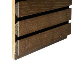 Akustiline ribipaneel tamm MDF 20x217x3000mm pruun