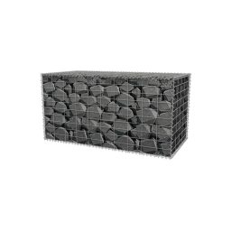 Metallkorv dekoratiivkividega graniit 300x300x1000mm
