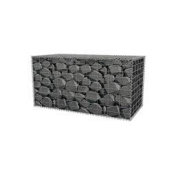 Metallkorv dekoratiivkividega graniit 500x500x1000mm