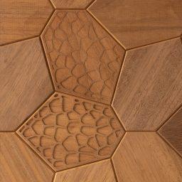 Seinapaneel Hexagon termo giraffe