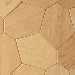 Seinapaneel Hexagon abachi