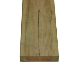 Impregnated planed timber