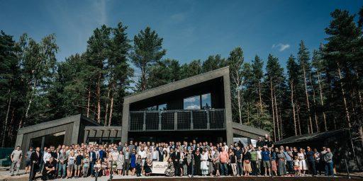 Eesti Puitmajaliit tähistas juubeliaastat sektori näituseruumi avamisega