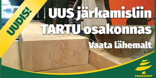 UUS 13,5m talade järkamisliin Tartu osakonnas!