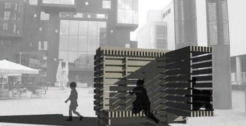 """Puitarhitektuuri välkkonkursi võitis töö """"Lipp lipi peal"""""""