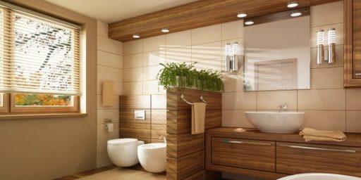 Vannituba või duširuumi saab täiesti edukalt ka ainult puiduga viimistleda